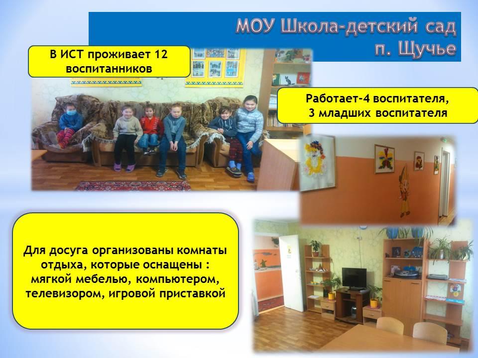 интернат МОУ Школа - детский сад Щучье