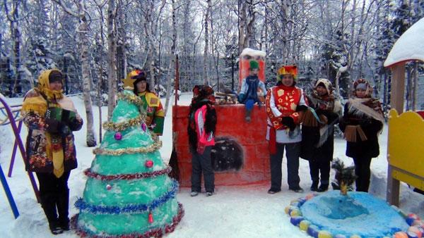 Результаты конкурса снежных построек