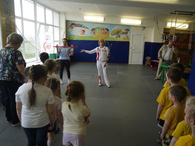 Встреча со спортсменами в детском саду